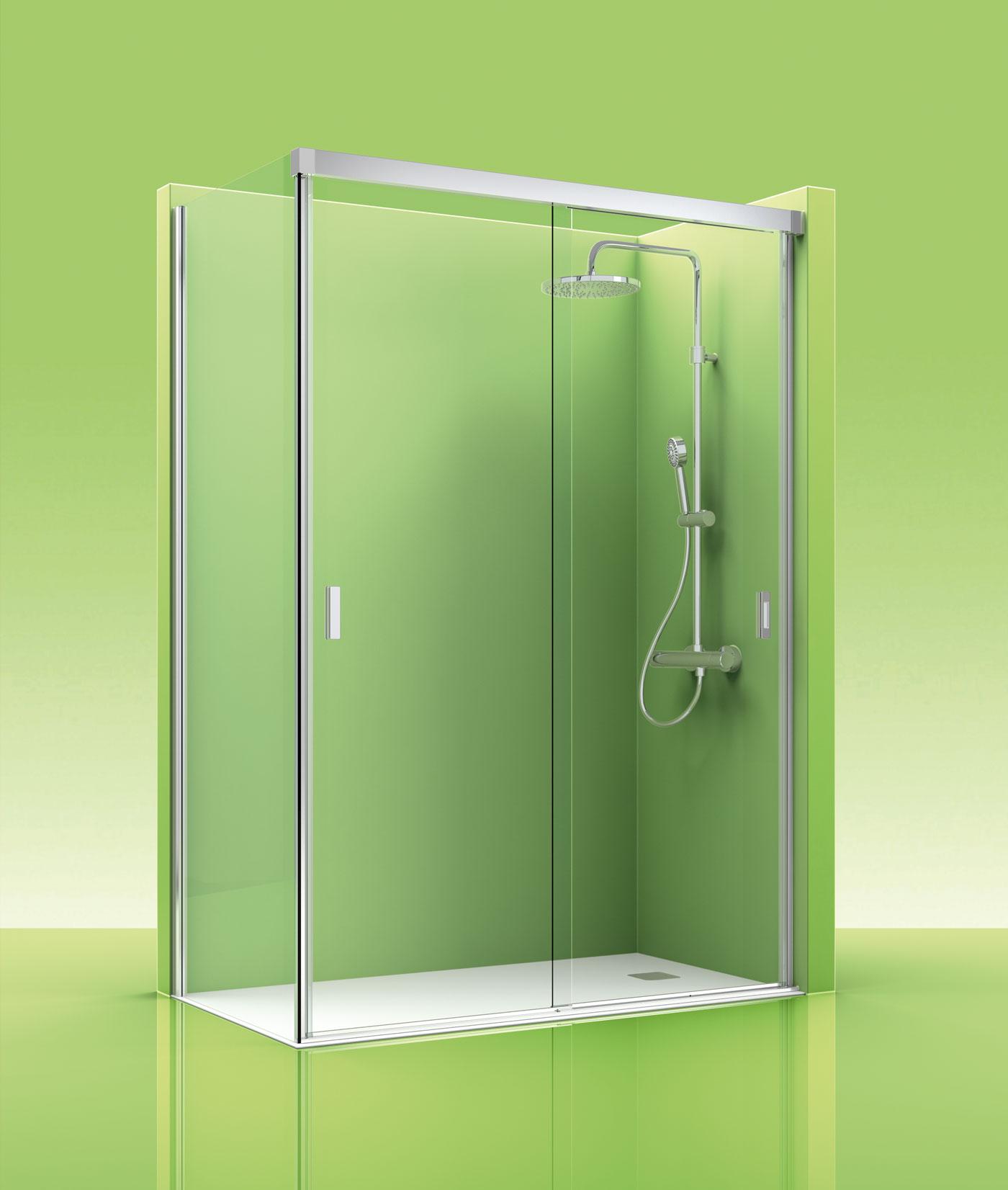 Mamparas ducha online fabulous mampara frontal cristal - Mamparas ducha online ...