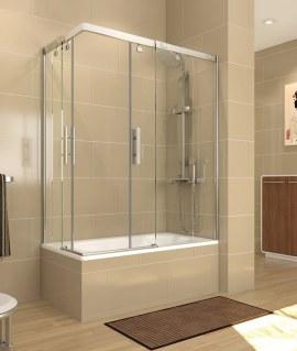 Mampara de bañera Decorban Circonio