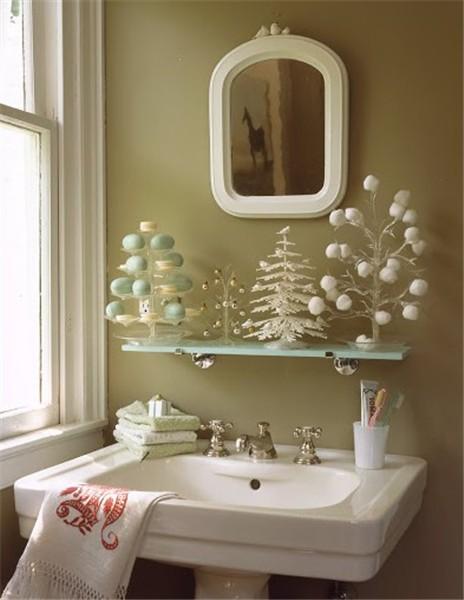 C mo decorar el cuarto de ba o en navidad mamparas de - Como decorar un cuarto de bano ...