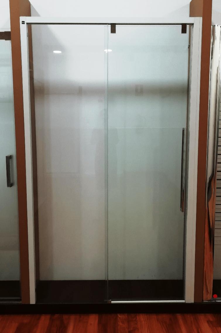 mampara de ducha fijo + corredera modelo Acrux tusmamparas valencia