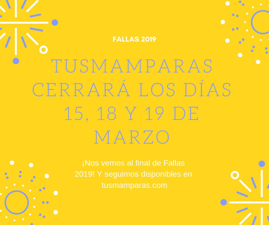 tusmamparas.com horarios en fallas 2019